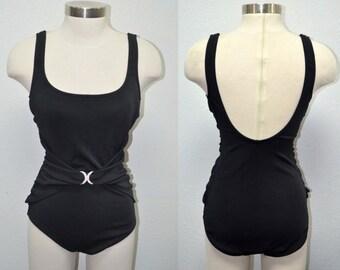 Rose Marie Reid Swimsuit, Women's Swimsuit, Size 12, Vintage Black Swimsuit, Women's Swimwear, Ladies' Designer Swimsuit