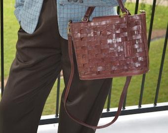 Brown Leather Purse, Women's Vintage Purse, Ladies' Handbag, Brown Pocketbook, Coletta Brown Leather Vintage Purse, Medium Purse