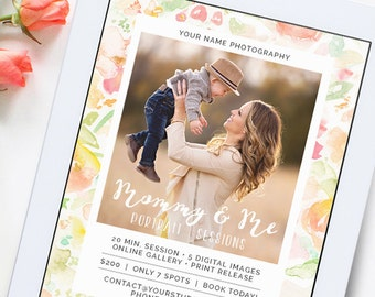 Mommy and Me Mini Session Template, Mommy and Me Template, Mini Session Template, Photography Marketing Template, Marketing Board AD176