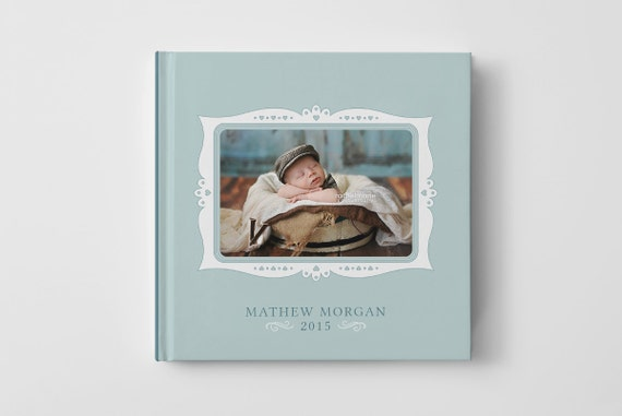 How To Make A Book Cover In Photo Elements ~ Photo book cover template for photographers baby