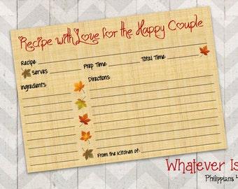 Fall In Love Recipe Card