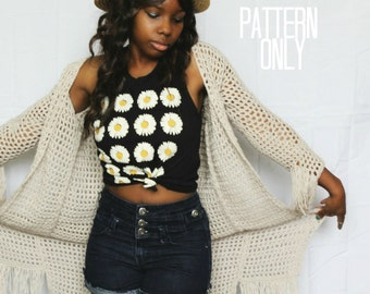 The Willow Crochet Cardigan Pattern. Instant Download. Crochet Pattern.