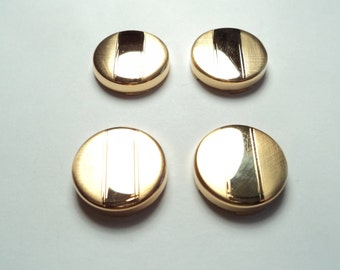 4 pcs - Gold plated Button Covers  - bc01