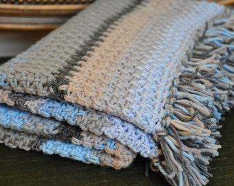 Henry's Waffle Blanket - Instant Download PDF Crochet Pattern