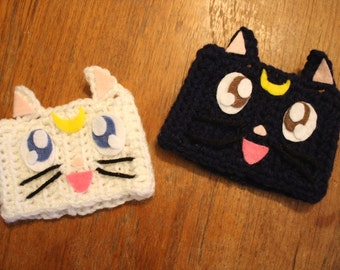 Luna & Artemis mug cozies - Sailor Moon mug cozy set
