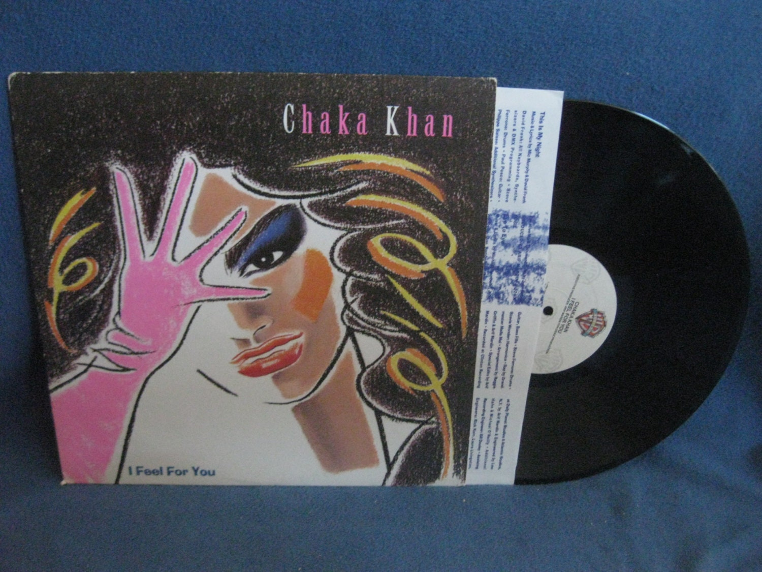 Vintage Chaka Khan I Feel For You Vinyl LP