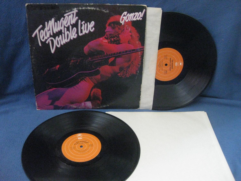 Vintage Ted Nugent Double Live Gonzo Vinyl 2 Lp