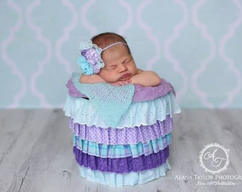 Do You Lilac It - headband in lilac, lavender, purple, aqua and white (RTS)