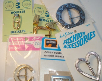 Vintage  Buckle Lot - Gold and Silver Tone - Belt Making Sewing Accessories