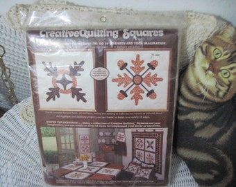Paragon  Creative Quilting Squares Kit No 0885, Craft Kit, Quilting Kit, Fall Quilting Kit, Fabric, Fall Leaves, Fall harvest   :)s