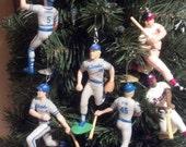 Hank Aaron, Paul Molitor, Robin Yount, Rob Deer, Milwaukee Brewers Braves baseball christmas sports ornament
