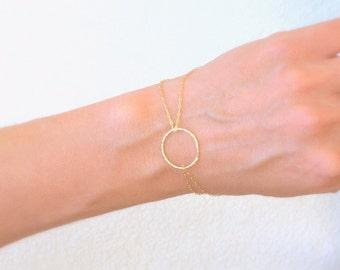 Gold  Bracelet, Circle bracelet, small circle bracelet,  Karma bracelet, thin gold bracelet,dainty gold bracelet, bracelet gold