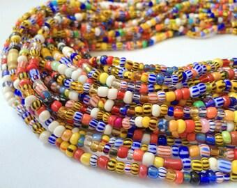 Colourful Striped Handmade Waist Bead (Thick) *per one strand*