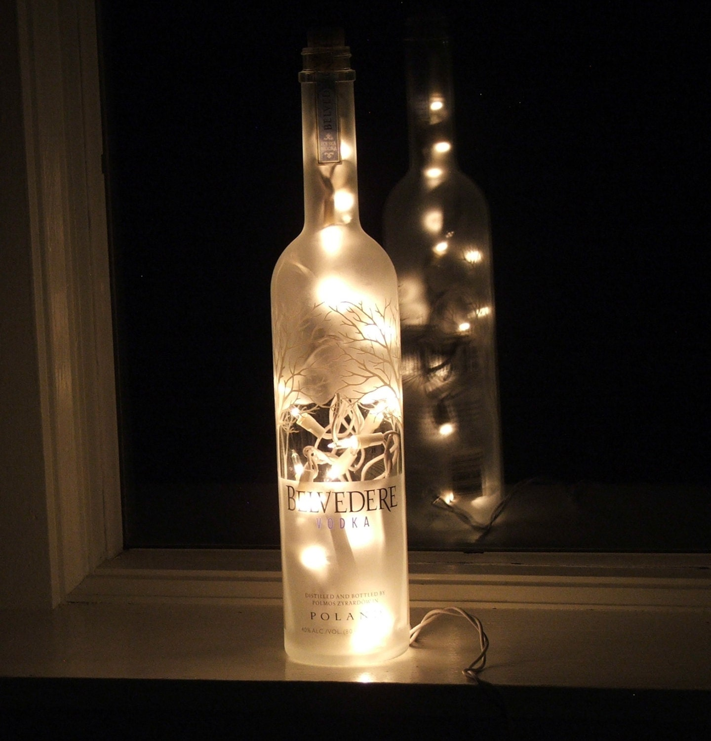 Beautiful Belvedere Vodka Bottle Light 1 Liter With White