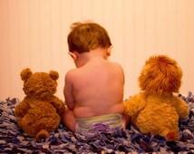 Shag Rag Rug Photo Prop Nursery Rug Children Rug Basket Stuffer Baby Shower Gift Boy Rug
