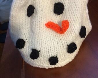 Child's snowman hat