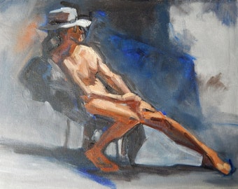 Evening Model with a Hat