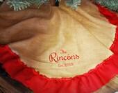 Monogrammed Burlap Christmas Tree Skirt