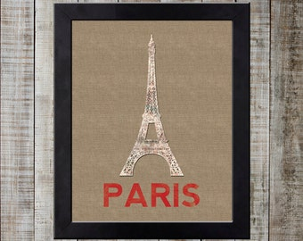 Paris France World Landmark Print - Eiffel Tower / Tour Eiffel