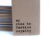 Fashion Royalty MOLESKINE® journal, cool gift for aspiring fashionistas and fashion designers
