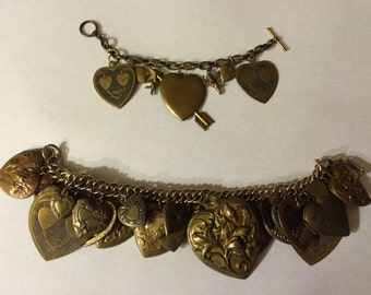 Mother & Daughter OOAK Valentine's Day Charm Bracelets by Kay Creatives