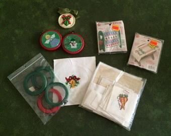 CROSS STITCH - Holiday Craft Items