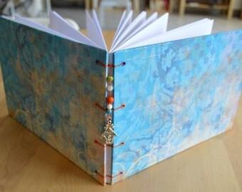 Personalized handmade blank bound journal, album, book, scrapbook, sketchbook, notebook, special occasions, guest book