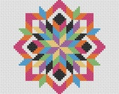 Cross Stitch PDF Pattern Quilt Block Easy Beginner