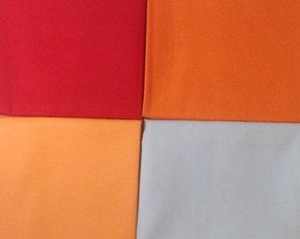 Art Gallery Pure Elements Solids--Fat Quarter Bundle--Red, Orange, Beige