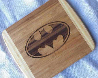 Batman inspired cutting board,superhero  Gift, batman gift, personalized batman board