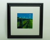 Fence Goochland Va Farm Framed Photo, Country Field Photo Art, Framed Photography Gift