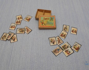 Gaël Miniature  vintage game punch and judy game 1956 1:12 Scale Dollhouse Miniature toys child accesories handmade