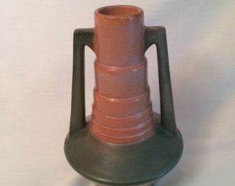 """Antique Roseville """"Futura"""" Telescope vase1924"""