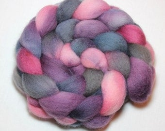 Handpainted Roving - Berry Smoothie - Falkland Wool, 4 Ounces