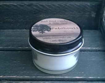 Patchouli Scented Candle 4 oz. Canning Jar