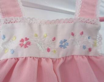 Vintage Carter's pink girls playsuit, romper, size 6 months