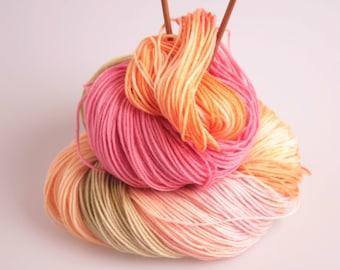 Sock Yarn 'Lucy in the Sky' -  Hand dyed Sock Yarn, Wool Yarn 4 ply