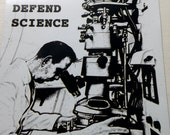 Defend Science series Man at Electron Microscope magnet