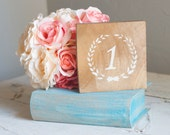 Laurel Wreath Table Numbers by Burlap and Linen Co