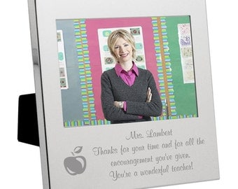 Silver Personalized Teacher Frame