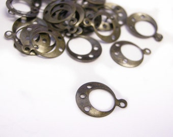 100pc 13x10mm antique bronze finish round charms-1369x2