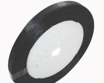 1 of 6mm black satin ribbon roll 25 yards-TOP8