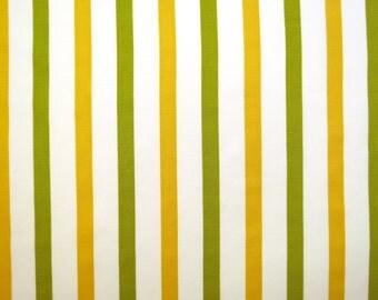 Half Yard of Vintage Sheet Fabric - Yellow and Green Stripe