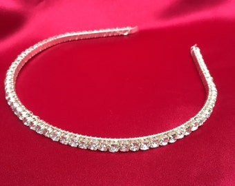 Handmade crystal hairband