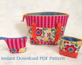 Stitcher's Dream Bag Downloadable PDF Pattern with BONUS Itty Bitty Pouch Pattern