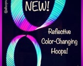 "CUSTOM // ""MoonBeam"" Color-Morph Reflective Hoop"