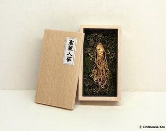 Korean Ginseng Root, Wild Oriental medicinal Herbs plants- Dollhouse Miniature