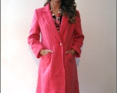 Vintage DENISE COLLECTION Pink Jacket / Mohair and Wool / Winter Wear / Pretty In Pink