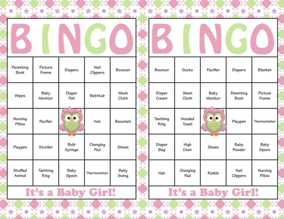 Nifty image in free printable baby shower bingo cards for 30 people
