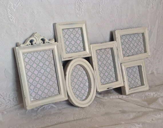 shabby chic frame collage large white wall collage 4 x 6 5 x